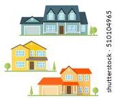 vector flat icon suburban... | Shutterstock .eps vector #510104965
