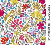 floral seamless pattern.... | Shutterstock .eps vector #510106681