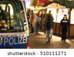 Police Car On Christmas Market...