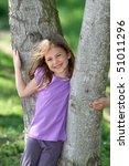 cute young girl resting between ... | Shutterstock . vector #51011296
