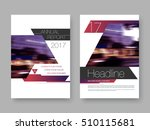 cover design annual report... | Shutterstock .eps vector #510115681