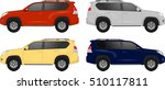 set of suv cars  off road... | Shutterstock .eps vector #510117811