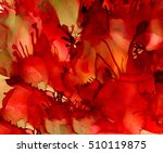 abstract textured red tentacles ... | Shutterstock . vector #510119875