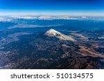 aerial view of mount fuji... | Shutterstock . vector #510134575