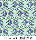 jumping blue fish | Shutterstock .eps vector #510136531