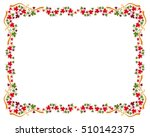 autumn horizontal frame with... | Shutterstock . vector #510142375