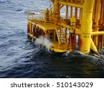 high wave hitting the boat... | Shutterstock . vector #510143029