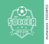 soccer emblem line icon on... | Shutterstock .eps vector #510148921