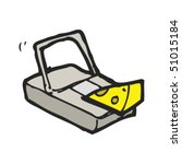 Quirky Drawing Of A Mouse Trap