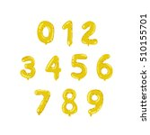 cartoon golden foil helium... | Shutterstock .eps vector #510155701