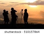silhouette of professional...   Shutterstock . vector #510157864