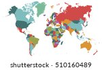 world map countries. world map... | Shutterstock .eps vector #510160489