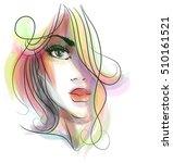 stylish  original hand drawn... | Shutterstock . vector #510161521