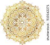 mandala gold  tribal vintage... | Shutterstock .eps vector #510162271