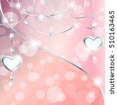 sparkly peach pink background... | Shutterstock . vector #510163465