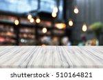 perspective white luxury wooden ... | Shutterstock . vector #510164821