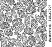 graphic cones drawn in line art ... | Shutterstock .eps vector #510167809