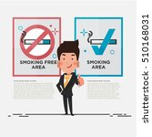smoking free area and smoking... | Shutterstock .eps vector #510168031
