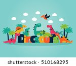 lovely vector set with funny... | Shutterstock .eps vector #510168295