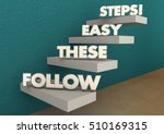 follow these easy steps... | Shutterstock . vector #510169315