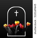 flowers in tombstone. vector... | Shutterstock .eps vector #510169645