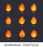fire icon vector design | Shutterstock .eps vector #510171211