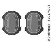 military knee pads icon. gray... | Shutterstock .eps vector #510174775