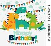 happy birthday   lovely vector... | Shutterstock .eps vector #510176041