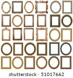 30 picture gold frames with a... | Shutterstock . vector #51017662