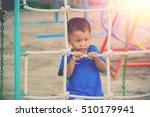 children playing park. little... | Shutterstock . vector #510179941
