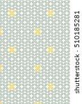 vintage color leaf pattern.... | Shutterstock .eps vector #510185281