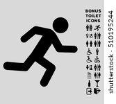 running man icon and bonus male ... | Shutterstock .eps vector #510195244