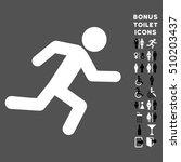 running man icon and bonus male ... | Shutterstock .eps vector #510203437