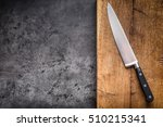 kitchen knife on concrete or... | Shutterstock . vector #510215341