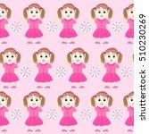 seamless baby girl pattern | Shutterstock .eps vector #510230269