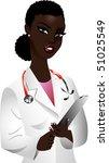 vector of black woman doctor. | Shutterstock .eps vector #51025549