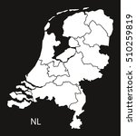 netherlands map with provinces  ... | Shutterstock .eps vector #510259819