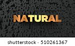 natural   gold text on black... | Shutterstock . vector #510261367
