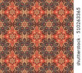 seamless hand drawn mandala... | Shutterstock .eps vector #510263365