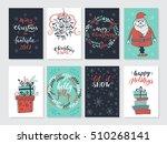 vector merry christmas greeting ...   Shutterstock .eps vector #510268141