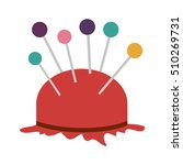 pincushion with pins icon | Shutterstock .eps vector #510269731