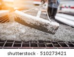 Concrete Pouring Tool During...