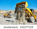 Heavy Wheel Loader Extracting...