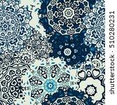 winter snowflakes damask flower ... | Shutterstock .eps vector #510280231