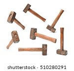 old sledge hammer with wooden... | Shutterstock . vector #510280291