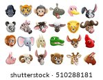 cute friendly cartoon animal... | Shutterstock .eps vector #510288181