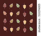 autumn. autumn leaves.... | Shutterstock .eps vector #510296005