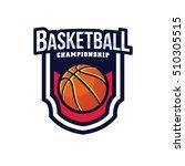 basketball logo  american logo... | Shutterstock .eps vector #510305515