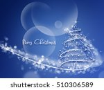 merry christmas tree greeting... | Shutterstock . vector #510306589