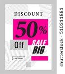 sale flyer banner poster... | Shutterstock .eps vector #510311881
